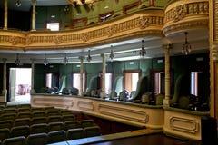 Interior del teatro imagen de archivo