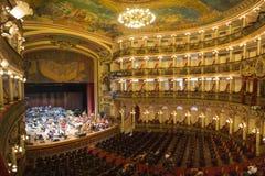 Interior del teatro del Amazonas en Manaus, el Brasil fotos de archivo