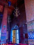 Interior del templo antiguo tailandés Imágenes de archivo libres de regalías