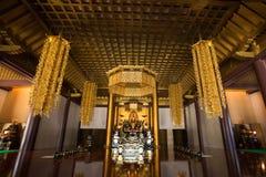 Interior del templo de Zojo-Ji imagen de archivo libre de regalías