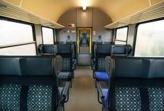 Interior del tren Fotografía de archivo