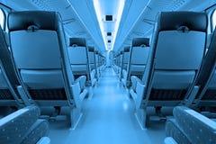 Interior del tren Fotografía de archivo libre de regalías