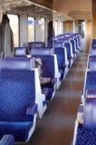 Interior del tren Foto de archivo
