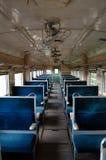 Interior del tren Foto de archivo libre de regalías