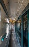 Interior del tren de alta velocidad en Checo fotos de archivo libres de regalías