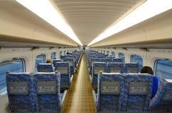 Interior del tren de punto negro Foto de archivo