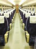 Interior del tren de Shinkansen Imagenes de archivo