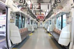 Interior del tren del japonés Imagenes de archivo