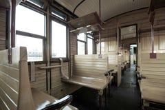 Interior del tren del vintage Fotografía de archivo