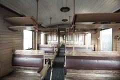 Interior del tren del vintage Imágenes de archivo libres de regalías