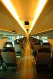 Interior del tren en Finlandia Imagenes de archivo