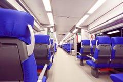 Interior del tren expreso Imagen de archivo