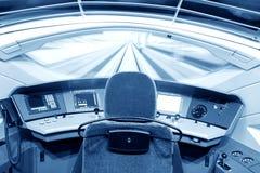 Interior del tren moderno Imagen de archivo libre de regalías