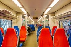 Interior del tren rápido Fotos de archivo libres de regalías