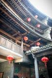 Interior del tulou de Fujian Fotos de archivo