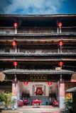 Interior del tulou de Fujian Fotografía de archivo