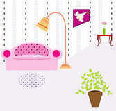 Interior del vector Imagen de archivo libre de regalías