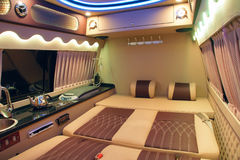 Interior del vehículo recreacional imagenes de archivo