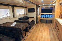 Interior del vehículo recreacional foto de archivo libre de regalías
