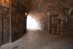 Interior del vintage del castillo de Montjuïc Fotos de archivo libres de regalías