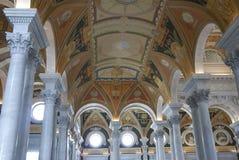 Interior del Washington DC de la Biblioteca del Congreso Imagen de archivo libre de regalías