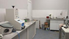 Interior of the dental lab stock video