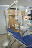 Interior of dentist surgery clinic with chair Royalty Free Stock Photo