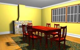 Interior dentro del cuarto fotografía de archivo libre de regalías
