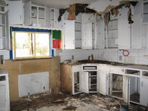 Interior of Derelict House Stock Photography