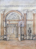 Interior desenhando Imagens de Stock Royalty Free
