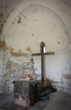 Interior of a deserted church Royalty Free Stock Images