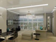 Interior design. Visualisation of modern elegance apartment Royalty Free Stock Photo