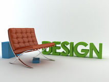 Interior design. Image with text Royalty Free Stock Photography