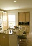 Interior Design. Modern kitchen with center island Stock Photography