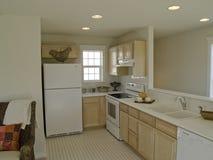 Interior Design. Gally kitchen in small apartment Stock Photo