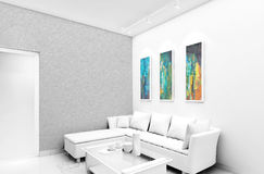 Interior Design. Concept view of lounging area Stock Photography