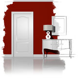 Interior design royalty free illustration