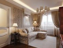Interior design accogliente del salone Fotografia Stock