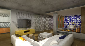 Interior design in African style Royalty Free Stock Images