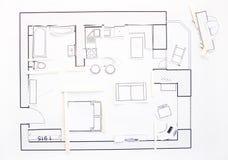 Interior design apartments - top view Stock Photos