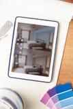 Interior Design Application On Digital Tablet Stock Photos