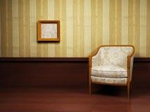 Interior design with an armchair Stock Photos