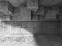 Interior design astratto con la struttura cubica 3 d Fotografia Stock