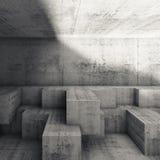 Interior design astratto con le strutture cubiche 3 d Fotografia Stock Libera da Diritti