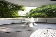 Interior design - balcony. Living area to balcony with phanton chairs Royalty Free Stock Photos