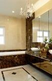 Interior design - bathroom. Master bathroom with pendent lighting Stock Photo