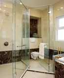 Interior design - bathroom. Master bathroom with shower screens Stock Photo