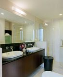 Interior design bathroom. Master bathroom with basin vanity top and shower screen Stock Images