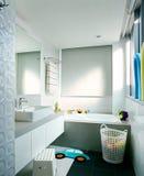 Interior design - bathroom. Kids bathroom with designer tiles Royalty Free Stock Image