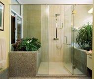 Interior design - bathroom stock photos